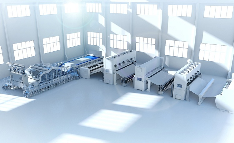 Andritz's high-capacity neXline needlepunch eXcelle line for production of nonwoven technical felts.