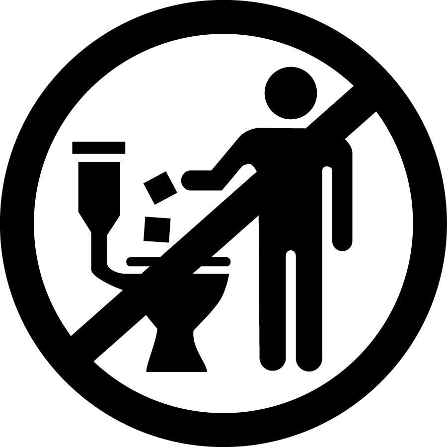 No flush logo