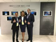 Pictured at the company's demonstration centre at its headquarters in Italy is the Fameccanica marketing and innovation team, (left to right): Alessandro D'Andrea, Piera Giansante and Giammarco Cioce.